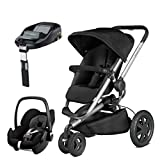Quinny Buzz Xtra Rocking Black with Pebble Car Seat and Familyfix Base