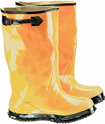 "ONGUARD 88070 Rubber Men's Slicker Boots with Cleated Ripple Outsole, 17"" Height, Yellow, Size 10"