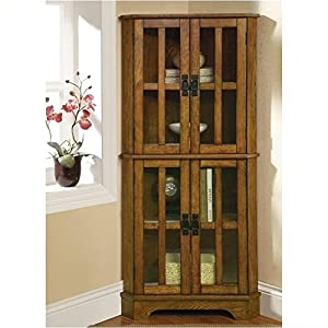 Coaster Home Furnishings Contemporary Curio Cabinet, Warm Brown