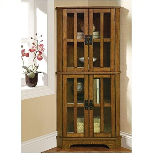 Coaster Home Furnishings Contemporary Curio Cabinet, Warm Brown (Cabinet And Hutch compare prices)