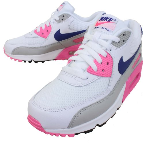 5aefbed7eefd Nike Women s Air Max 90 Essential White Concord Zen Grey Pink Glow 7 5 B US