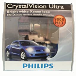 Philips 9008 / H13 CrystalVision ultra Upgrade Headlight Bulb (Pack of 2)