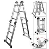 Multi-Purpose Multiple Position 12 Step Aluminum Folding Ladder