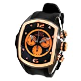 Invicta 10065 Men's Lupah Revolution Black Ion Plated Rubber Strap Chronograph Watch