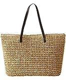 Women's Classic Straw Summer Beach Sea Shoulder Bag Handbag Tote