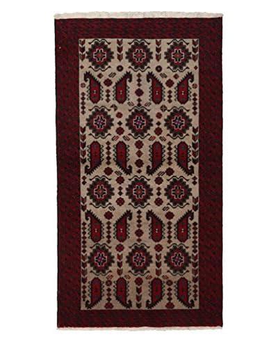 Darya Rugs Authentic Persian Rug, Red, 3' 5 x 6' 4