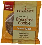 Erin Bakers Breakfast Cookies Peanut Butter, 3-Ounce Individually Wrapped Cookies (Pack of 12)