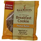 Erin Baker's Breakfast Cookies Peanut Butter, 3-Ounce Individually Wrapped Cookies (Pack of 12) ~ Erin Baker's