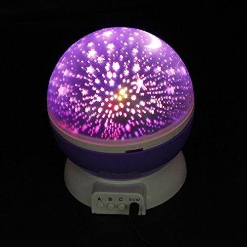 Sun and star lighting lamp 4 led bead 360 degree romantic - Ciel etoile led ...