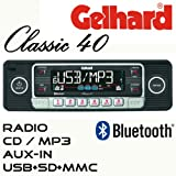 Gelhard-Classic-40-Retro-Look-RDS-Autoradio-CD-MP3-USB-SD-Bluetooth-Freisprecheinrichtung