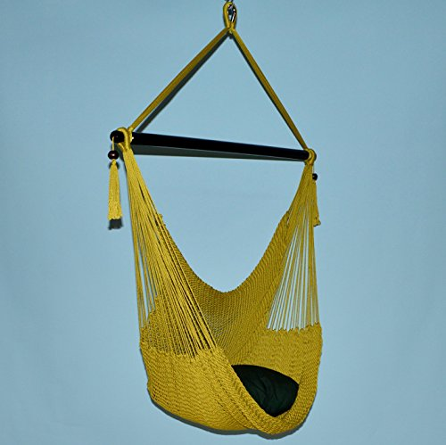 Large Caribbean Hammock Chair - 48 Inch - Polyester - Hanging Chair - olive