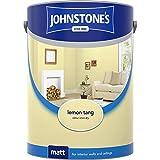 Johnstones No Ordinary Paint Water Based Interior Vinyl Matt Emulsion Lemon Tang 5 Litre