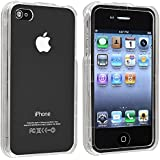 Transparent Crystal Clear Hard Protector Case Front & Back for Apple iPhone 4