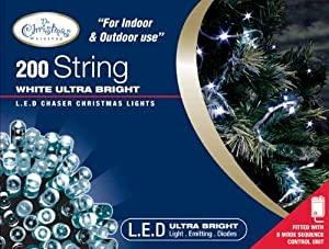 Benross The Christmas Lights 200 Ultra Bright LED String Chaser Lights