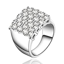 buy Sunifsnow Luxury Upscale Fashion Models Inlay Cystal Bling Wide Zircon Ring 8