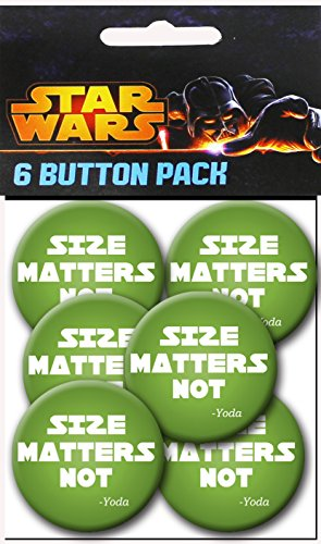C&D Visionary Star Wars Size Matters Not 1.5 Inch Button, (6-Piece) - 1