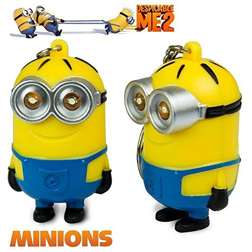 Find Cheap 2015 New Minions Toys Cartoon Movie Despicable Me 2 - 3D Dave Character Key Ring with LED...