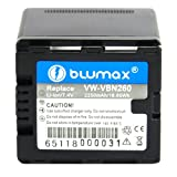 Blumax Li-Ion Battery for Panasonic VW-VBN260 VBN260 Fits HDC TM900/HS900/SD900/SD800