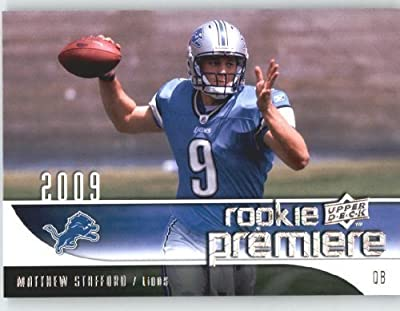 2009 Upper Deck Rookie Premiere Football Card #19 Matthew Stafford (RC) - Detroit Lions (Rookie Card) NFL Trading Card
