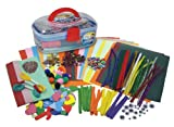Mister Maker Craft Chest is CRAMMED full of your favourite Craft items including Construction Paper, Chenille Stems (pipe cleaners), Wiggly Eyes, Pom Poms, Foam Shapes, Tissue Paper, Glitter and MUCH MUCH more. Over 1000 pieces all inside this handy supe