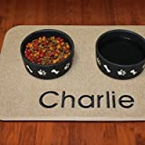 "Embroidered Pet Placemat - Tan, Small: 17""L x 12""W - Frontgate"