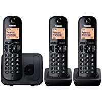 Panasonic KX-TGC213EB Digital Cordless Phone with Nuisance Calls Block (Triple)