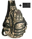ArcEnCiel® 35L Camping bags Waterproof Molle Backpack Military 3P Gym School Trekking Ripstop Woodland Tactical Gear for Men