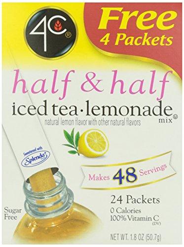 4C Half & Half Iced Tea Lemonade Mix- Sugar Free 24 pkts (4c Iced Tea Mix compare prices)