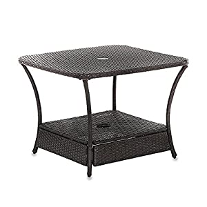 Amazon Com Umbrella Stand Side Table Base In Wicker For