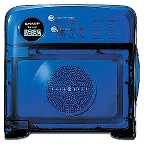 Sharp R-120DB Half Pint Microwave Oven, Blue