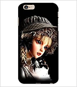 PrintDhaba Cute Girl D-1037 Back Case Cover for APPLE IPHONE 6 PLUS (Multi-Coloured)