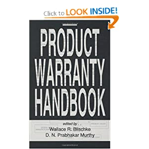 Product Warranty Handbook Wallace Blischke