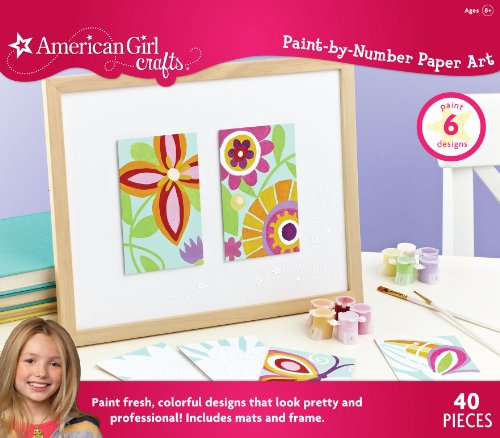 American Girl Crafts Paint-By-Number Paper Art front-985347