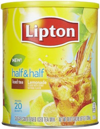 Lipton Iced Tea Mix, Half & Half-Iced Tea & Lemonade, 48.7 Oz, 20 Qt