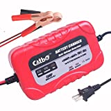 CATBO 2Amp Smart Battery Charger Maintainer 6V 12V Charging Selectivity Smart Charging Technology Sealed Lead Acid Battery Trickle Charger Maintainer for Cars Motorcycles ATVs RVs Powersports