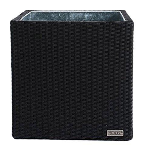 Outflexx Blumentopf cube Polyrattan, 50 x 50 cm w1, schwarz günstig kaufen
