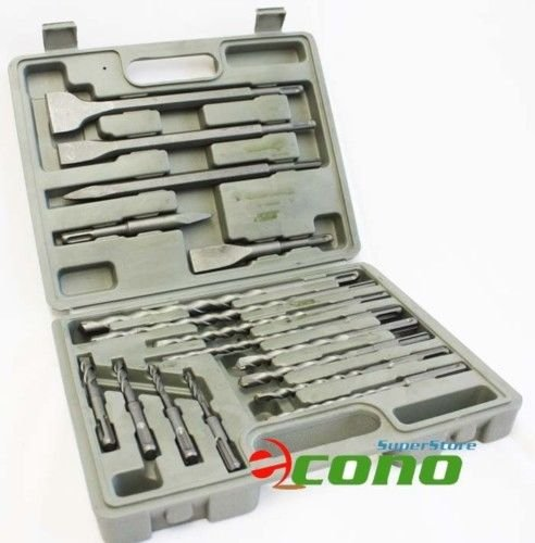 17PC SDS PLUS DRILL BITS & CHISEL ROTARY HAMMER BITS With CASE (Sds Drill Bit Kit compare prices)