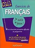 echange, troc Collectif - Exercices de Français CM1 : Venir à bout des principales difficultés du programme (+ corrigé)