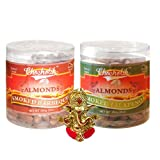 Chocholik Dry Fruits - Almonds Smoked Barbeque And Smoked Jalapeni With Ganesha Idol - Diwali Gifts - 2 Combo...