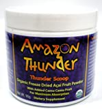 Amazon Thunder Thunder Scoop Organic Freeze Dried Acai Fruit Powder, with Camu Camu 3.17 oz (90 g)