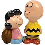 Westland Giftware Peanuts Magnetic Lucy and Charlie Football Salt and Pepper Shaker Set, 3-3/4-Inch