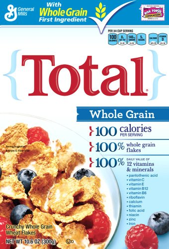 Total Whole Grain Cereal 10 6 Ounce Box Pack of 6