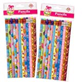 Easter Print Pencils, Assorted - Set of 12 - Great for Egg Hunts, Baskets and Party Favors!
