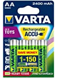 Varta Toy Rechargeable Accu Ready2Use AA Mignon Ni-Mh Akku (4-er Pack, 2400mAh)