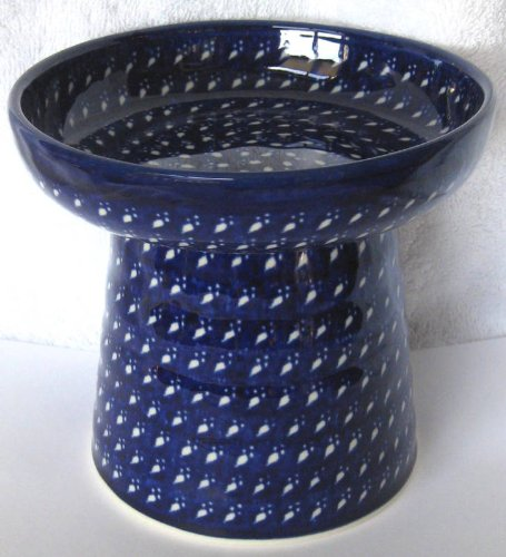 Polish Pottery Raised Food Dish or Water Bowl – Paws
