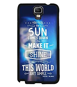 Fuson Premium Shine This World Metal Printed with Hard Plastic Back Case Cover for Samsung Galaxy Note 3 Neo N7505