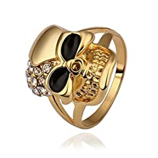 buy Amdxd Gold Plated Women Rings Gold Skull Design Inlaid Cz Size 8