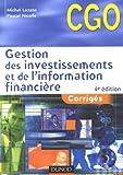 echange, troc Michel Lozato, Pascal Nicolle - Gestion des investissements et de l'information financière : Corrigés Processus 4 et 5