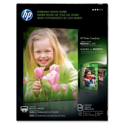 Hp Q2509A Glossy Everyday Photo Paper, 8.5 X 11 Inches (100 Sheets) back-922657