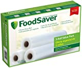 FoodSaver T010-00150-001 11-Inch-by-18-Foot Bag Material Roll, 3 Pack